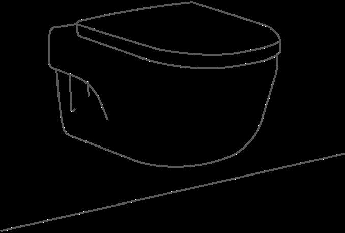 Wall Hung Pan Sketch